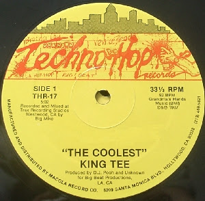 King Tee / King Tee & Mixmaster Spade With The Compton Posse ‎- The Coolest / Ya Better Bring A Gun (1987) (VLS) (192 kbps)