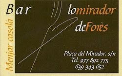 Restaurant Lo Mirador de Forès