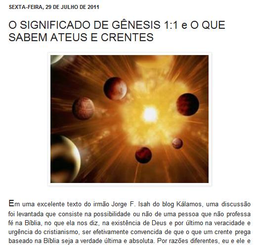 NÃO DEIXE DE LER SOBRE A MARAVILHOSA CRIAÇÃO DO UNIVERSO