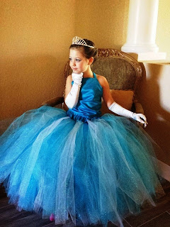 Tutu dress elsa frozen cantik untuk anak perempuan terbaru