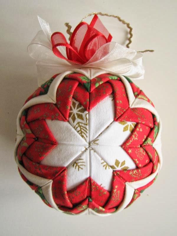 Совместный пошив елочной игрушки- шар из лоскутков