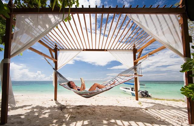relax sull'isola di Lankayan Sabah Borneo