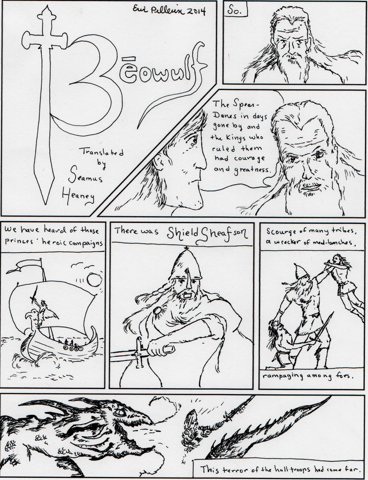 survey of british literature block 4 due tuesday 8th graphic novel essay beowulf translated by seamus heaney
