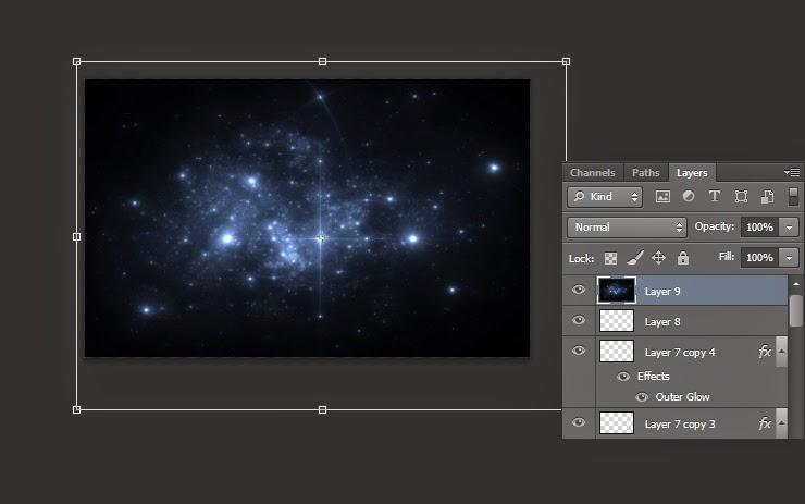 tutorial photoshop, teks efek photoshop, teks efek glossy