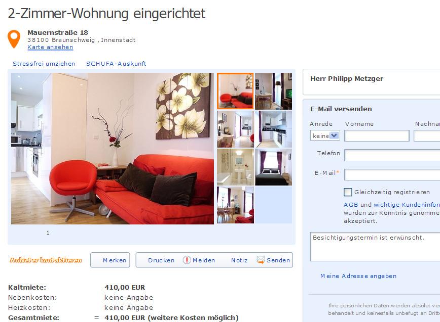 Philippmetzger89 for 2 zimmer wohnung braunschweig