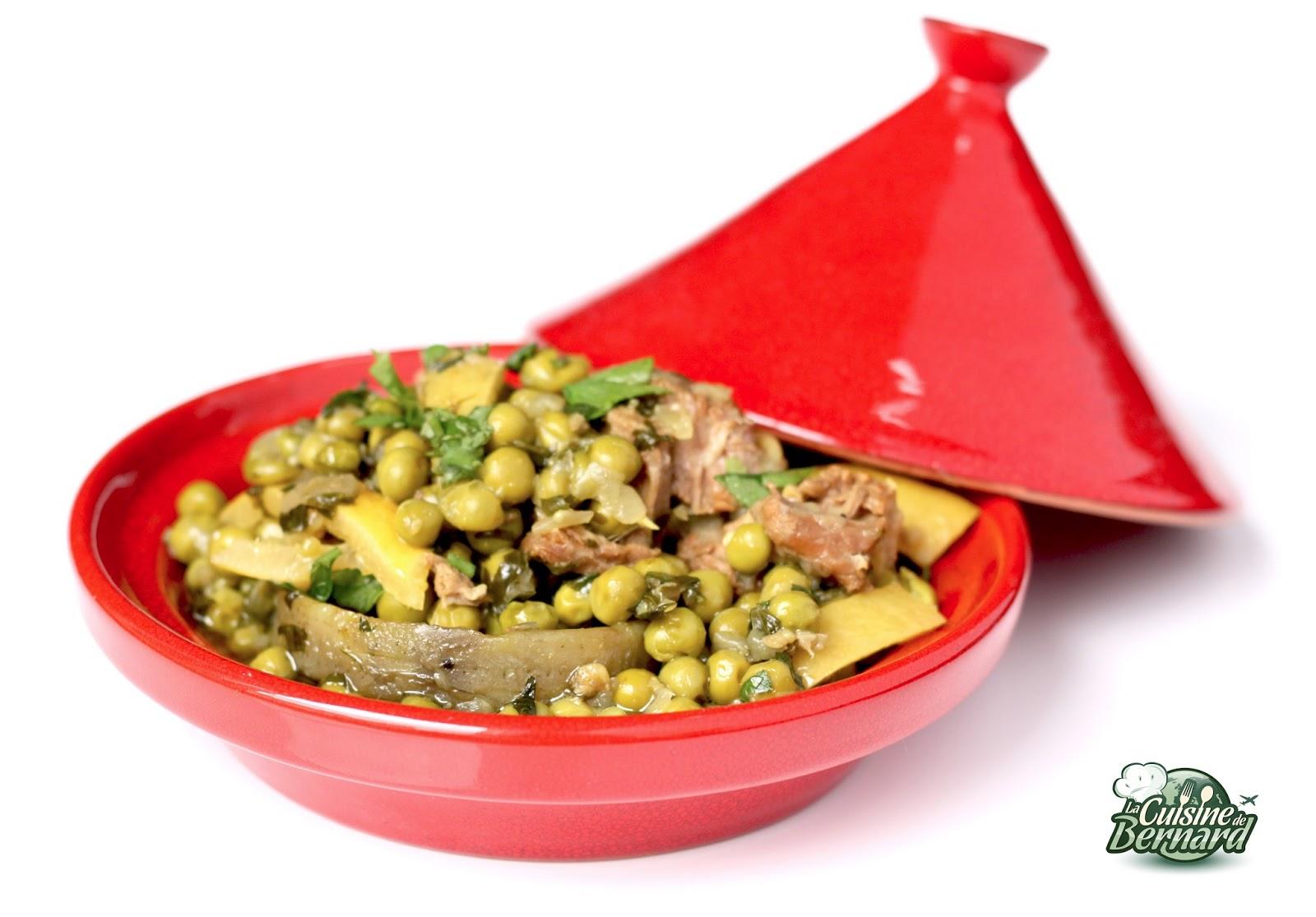 La cuisine de bernard tajine de veau aux petits pois et for Petit pois cuisine