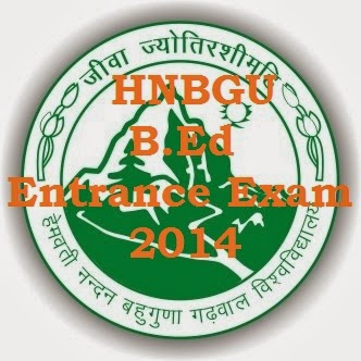 hnbgu b.ed rntrance exam 2014 notification