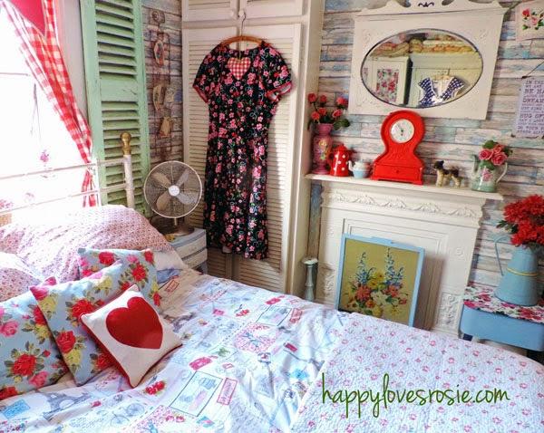 happy shabby bedroom