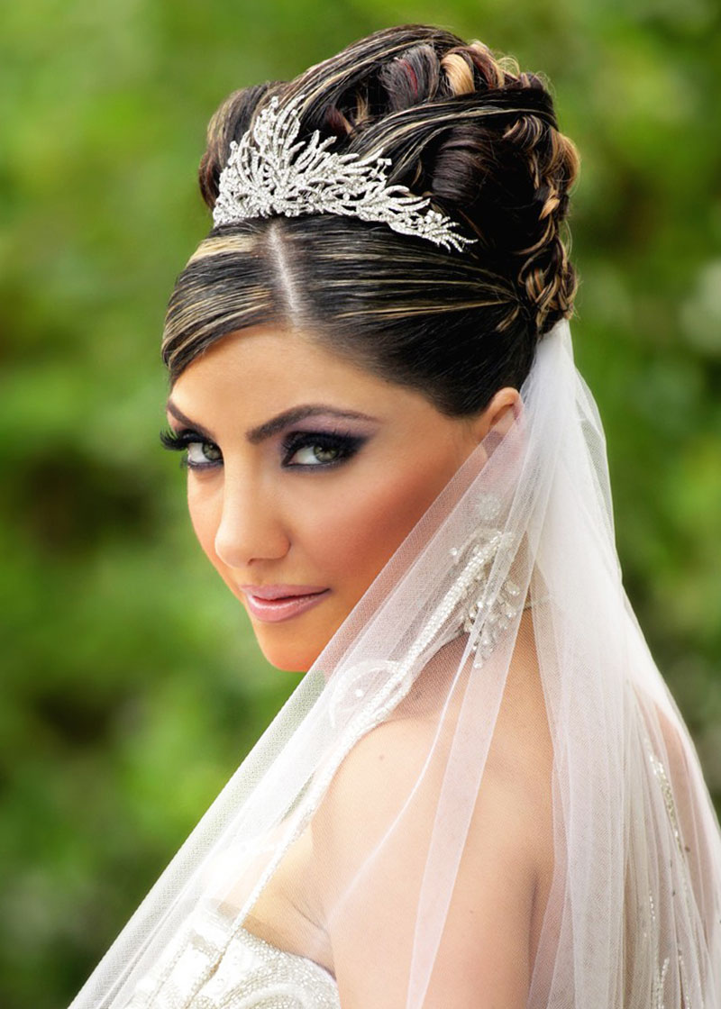 Wedding Hairstyles Updos With Veil and Tiara