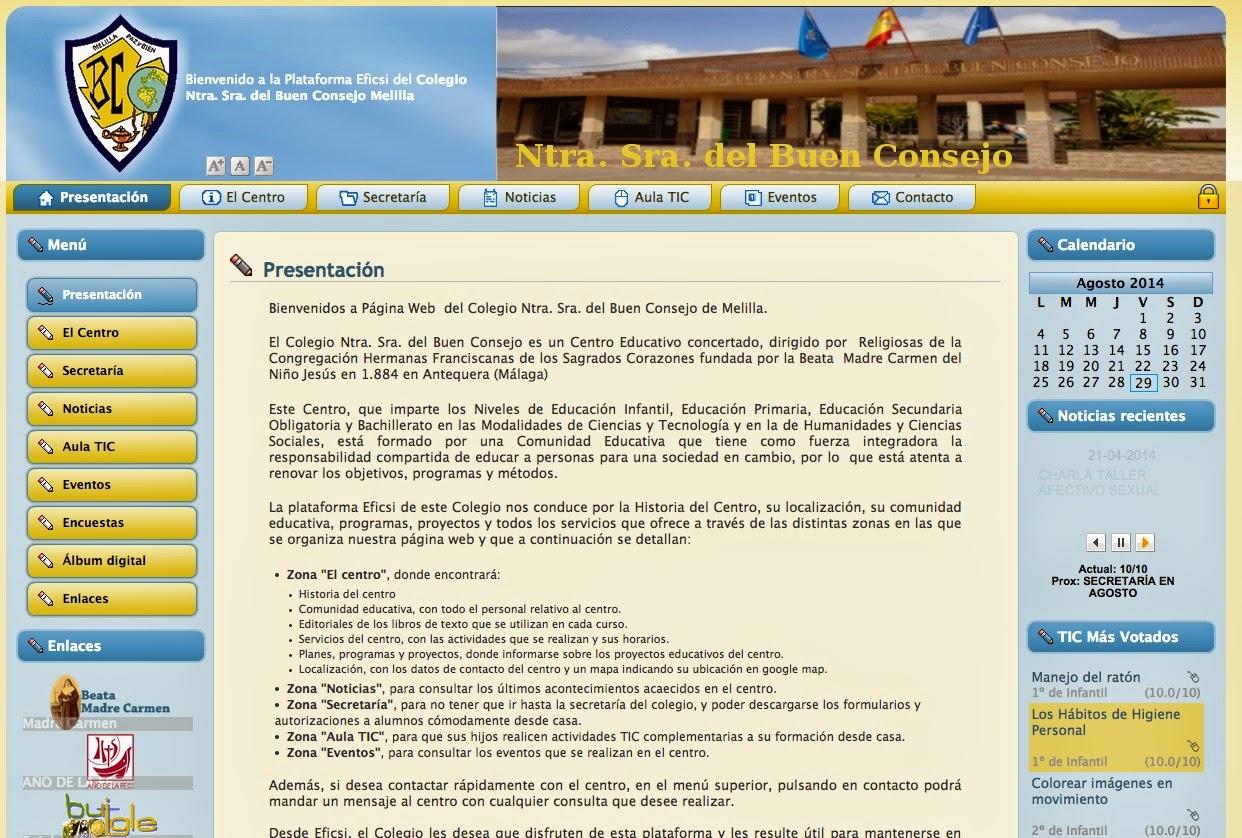 Página del colegio: