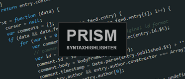 prism syntaxhighlighter