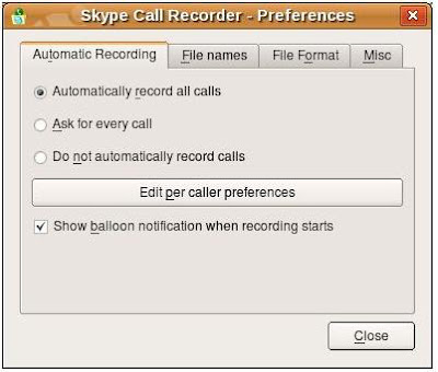 Skype Call Recorder in Linux