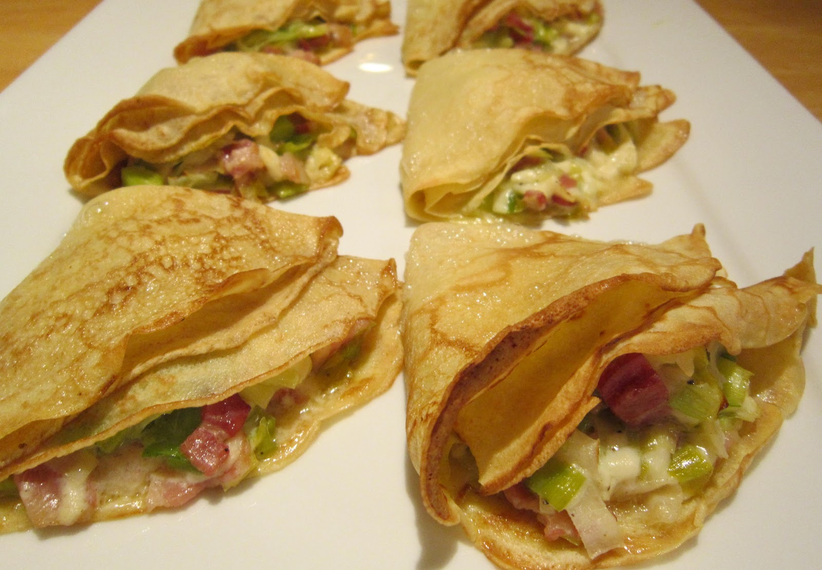 Galettes Poireau-Fromage (Buckwheat Crepes with Leeks and Cheese)