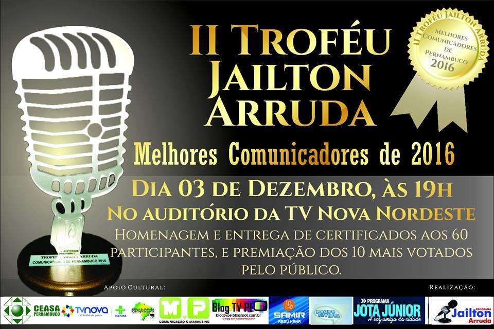 PRÊMIO COMUNICADORES PERNAMBUCANOS 2016.