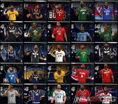 Christmas Day NBA 2013-2014 Sleeved Uniforms