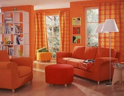 Decoraci n de interiores decoracion de salas en naranja for Decoracion naranja