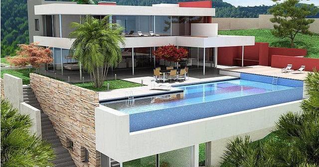 desain kolam renang di lantai atas rumah design rumah