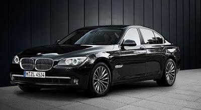 BMW 7 Series 740Li black color