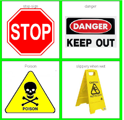 Common safety signs