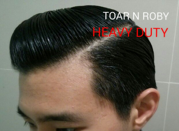 Hasil Pemakaian Pomade Heavy Duty Toar and Roby Pomade Kilau Rendah Kekuatan Tinggi