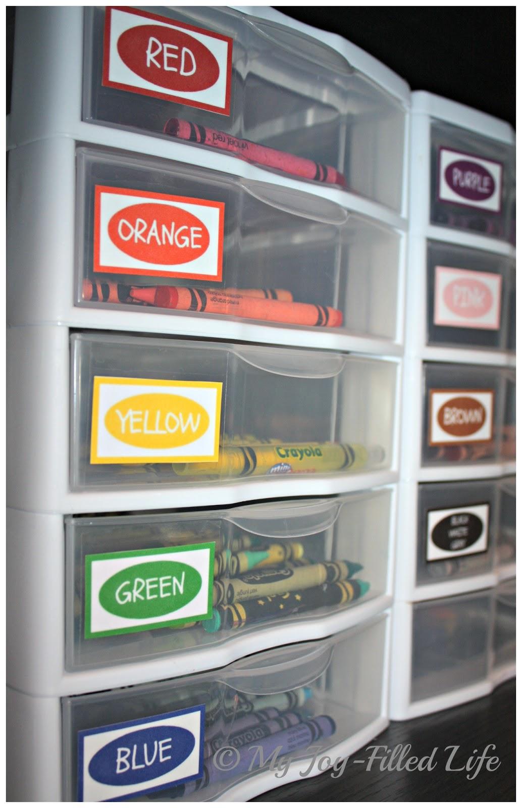 Color crayon printables - Crayon Organization Color Labels Printable