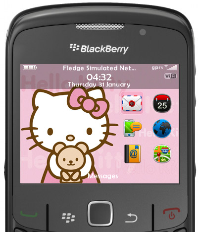 New Blackberry Curve 8520 colors: pink and white ~ Techpcplus