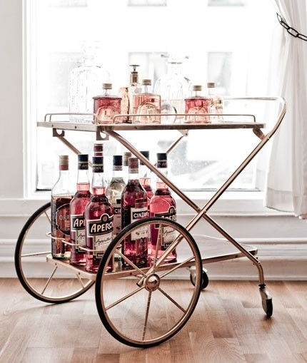 Décoration, Maison, Déco, Chariot, Bar, Trolley, Bar Cart, Ninilachipie