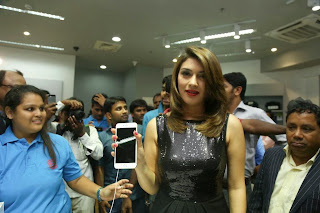 Actress Hansika Motwani Latest Pictures in Black Dress at iphone 6 Launch  32.jpg