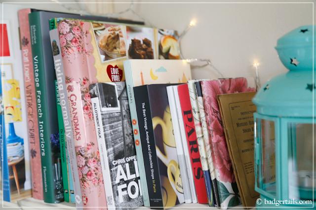 Home & Craft Books on Bookshelf