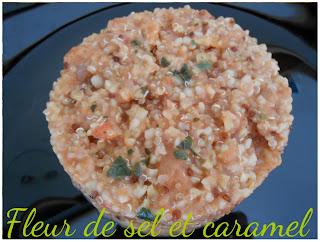 Méli-mélo de céréales tomate oignon