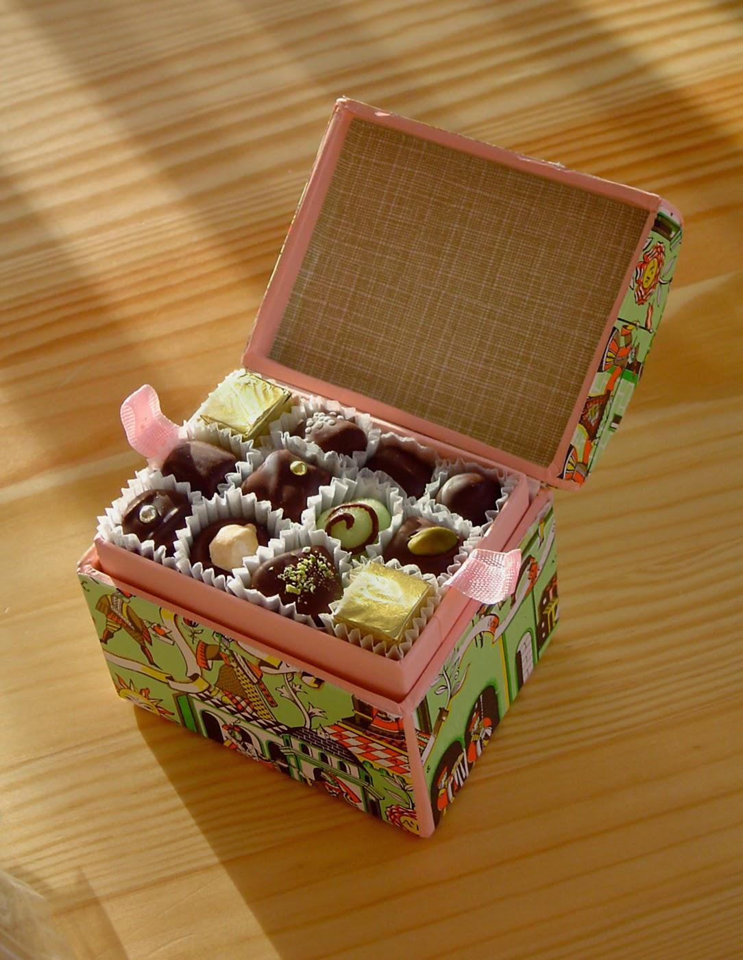 pudełko z czekoladkami