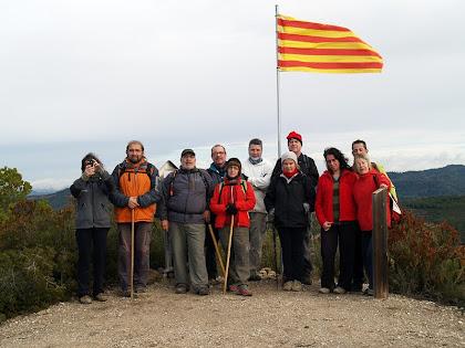 Caminada Popular de la Festa Major d'Hivern de Sant Vicenç de Castellet. A dalt del Puigsoler