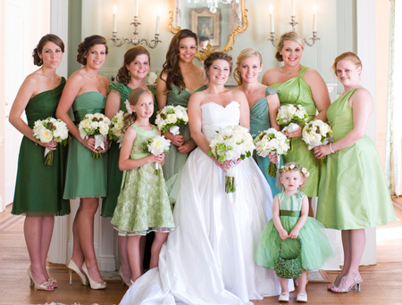 Spring Wedding Bridal Party Ideas