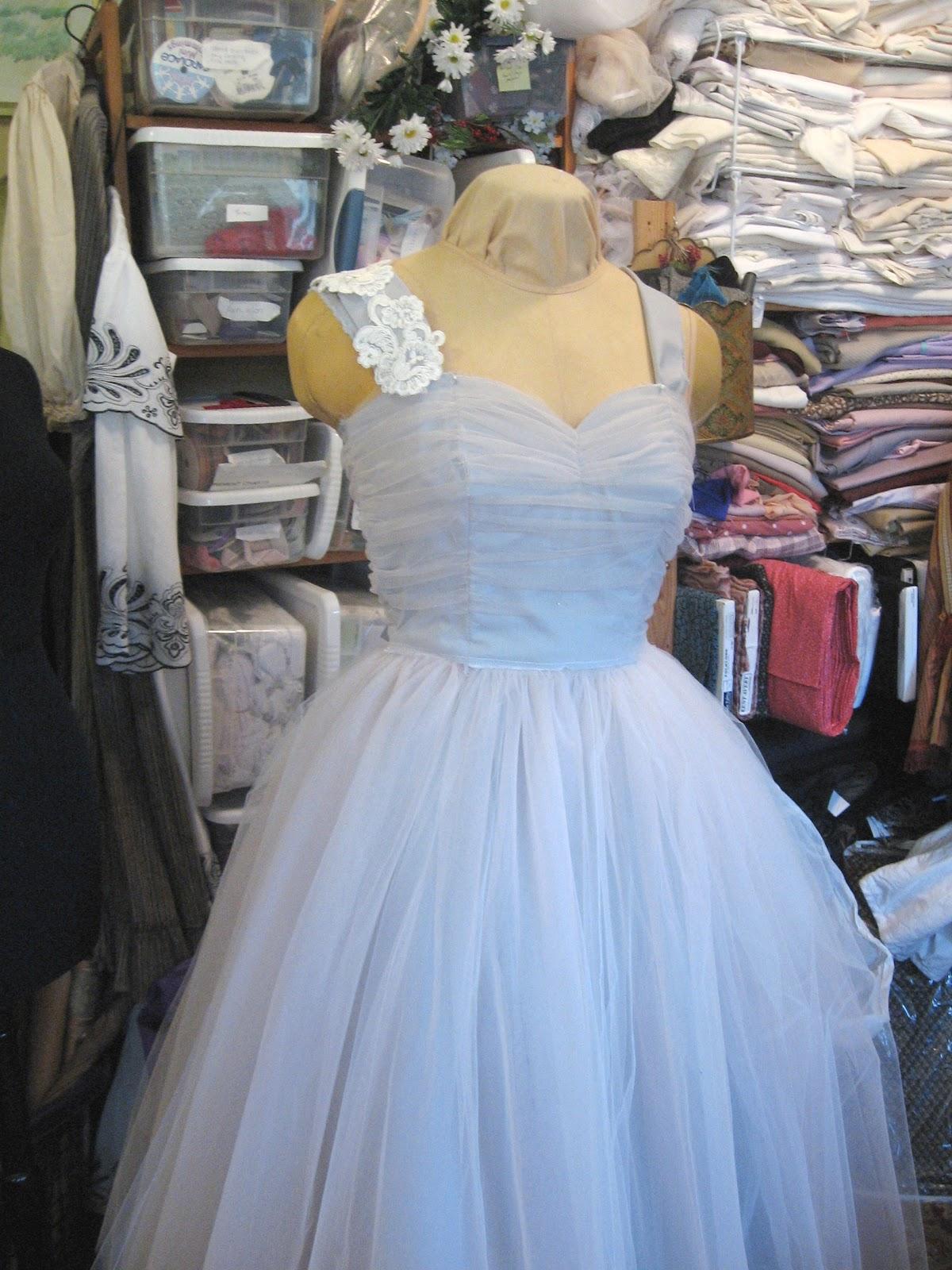 Homemade Tulle Wedding Dress