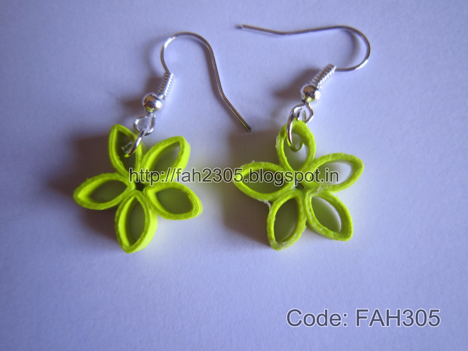 Fah Creations Paper Quilling Simple Flower Earrings