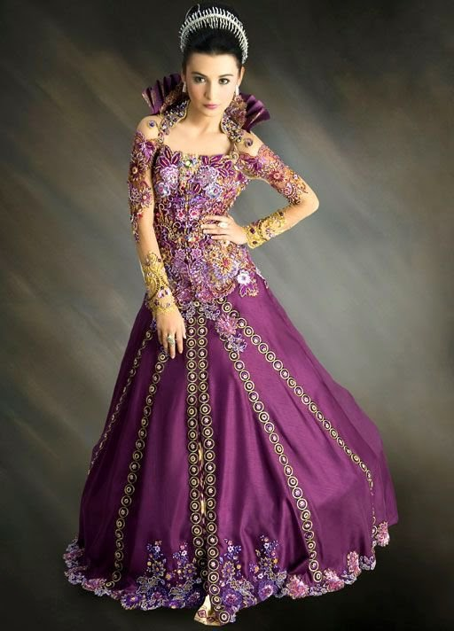 Kebaya Modern Purple - International Kebaya Batik Modern