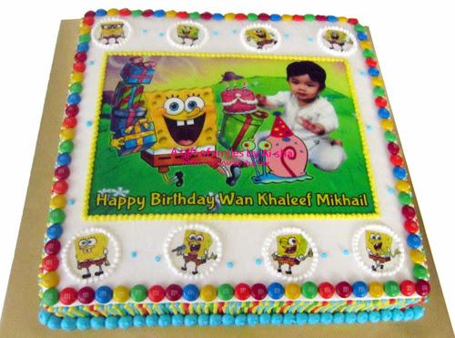 Birthday Cake Edible Image Spongebob Ai-sha Puchong Jaya