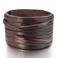 Leather Bracelet Bangle Cuff