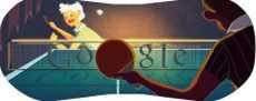 Doodle de Google Londres 2012 tenis de mesa