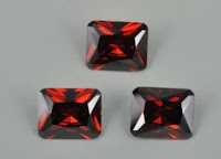 Garnet Color CZ Stone Octagon Princess Cut