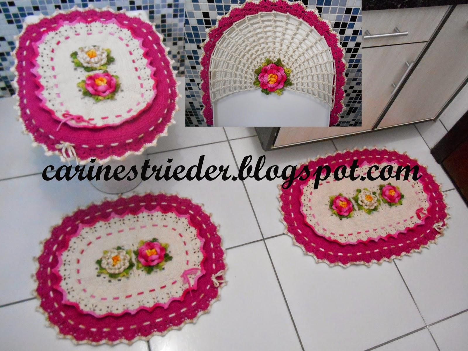 Jogo De Banheiro Classic Rosa Passo A Passo : Carine strieder crochet designer jogo de banheiro oval