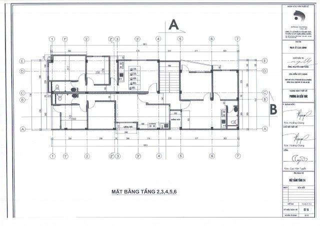 Thiết kế căn hộ tầng 2-6 của chung cư mini Nhật Tảo 7