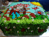 Cartoon Artwork Cake