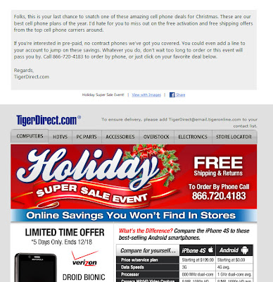 Click to view this Dec. 16, 2011 TigerDirect email full-sized