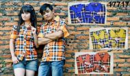 kemeja-couple-romantis-biru