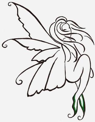 Simple Fairy Tattoo Designs