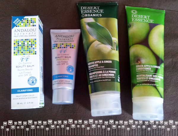 BB Oil control andalou desert essence apple ginger