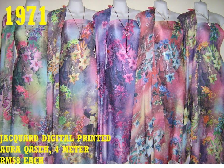 JDP 1971: JACQUARD DIGITAL PRINTED AURA QASEH, 4 METER, 5 COLORS