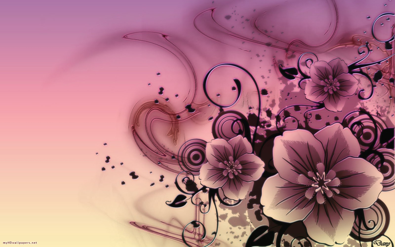 Kinds Of Wallpapers Abstract Flower Wallpaper