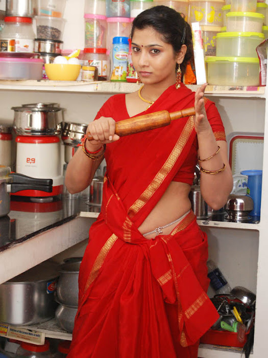 liya sree new red saree latest photos